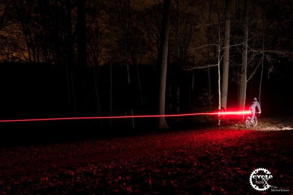 Bremslichtfunktion der Lupine Rotlicht
