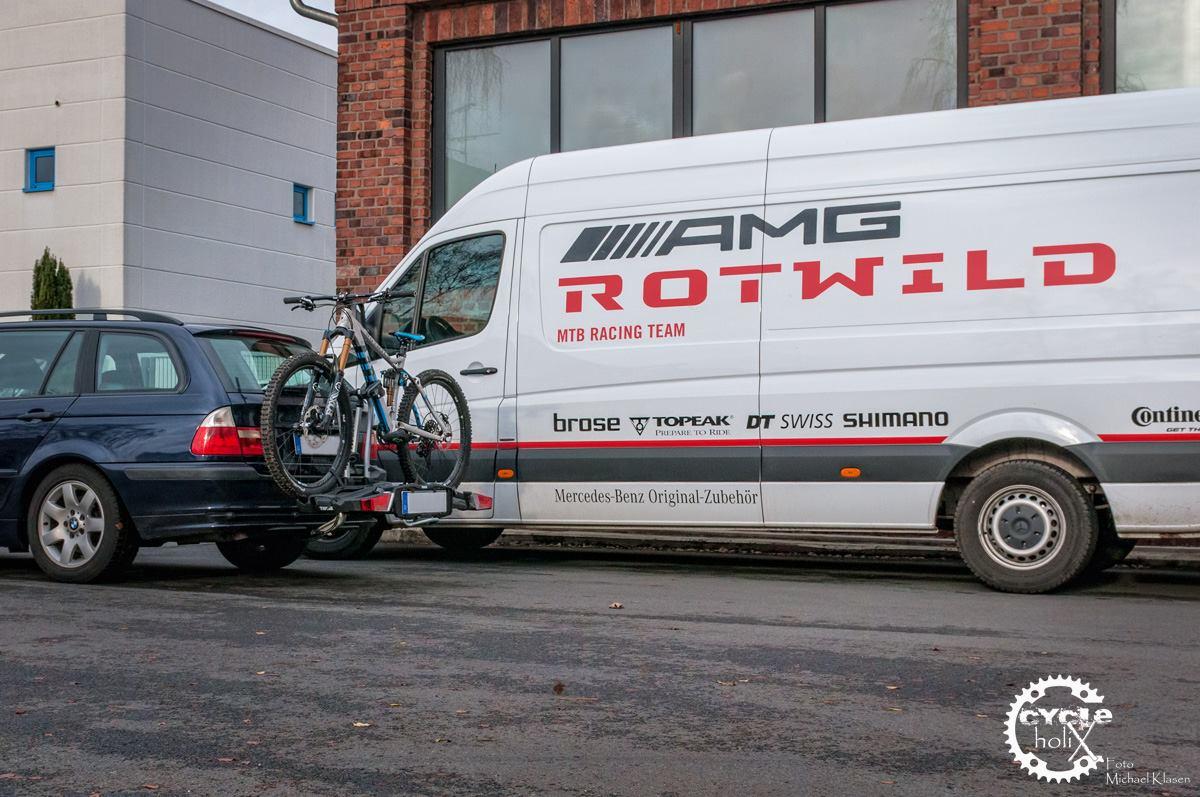 Testbiketransport mit dem EasyFold