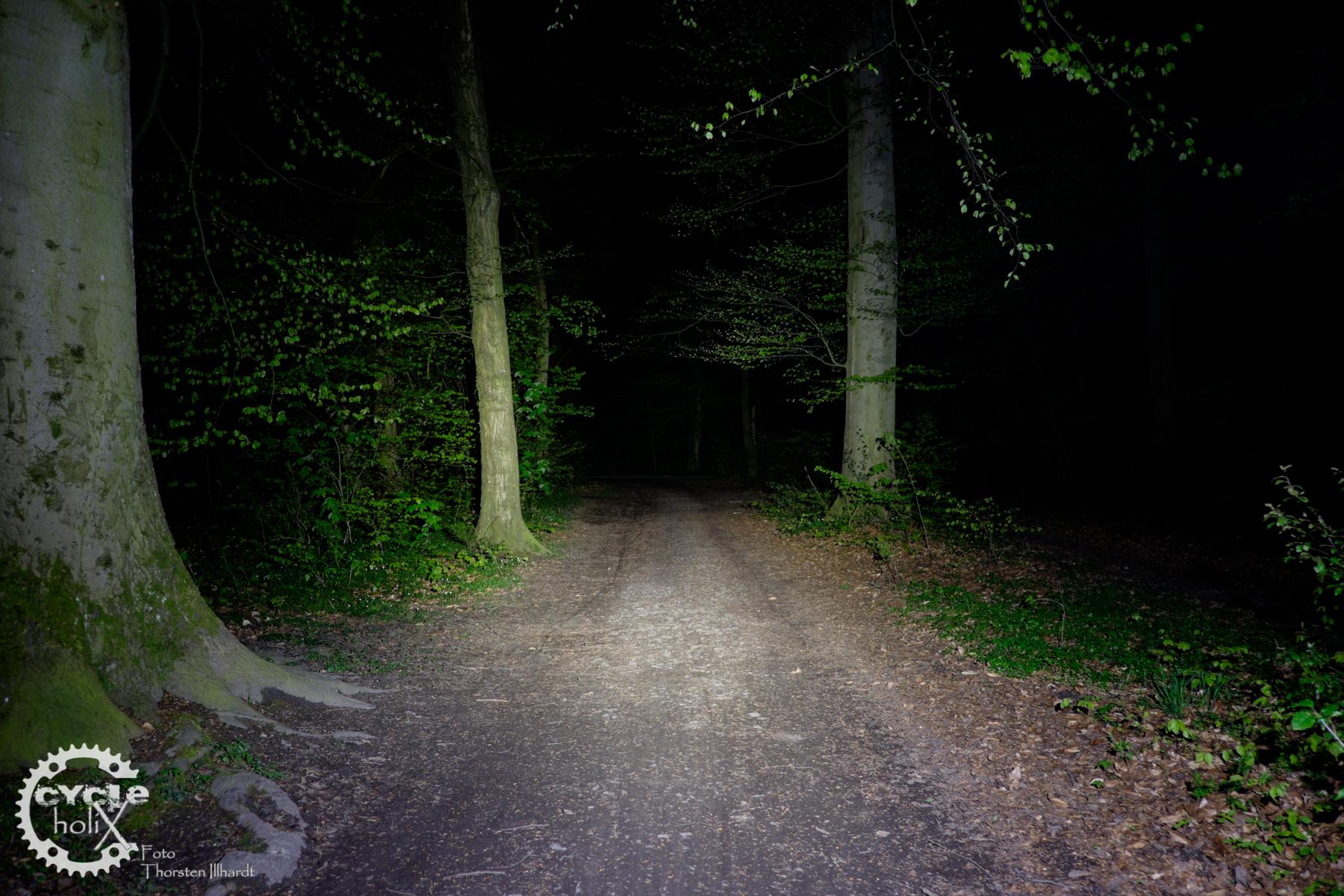 550 Lumen reichen für jeden einfachen Trail
