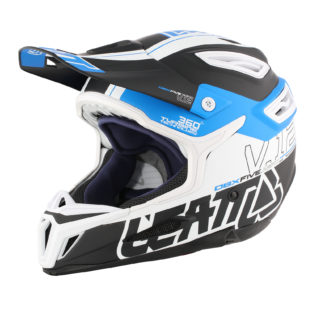 Helmet DBX 5.0 V12 Black Blue White Side 2