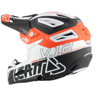 Helmet DBX 5.0 V12 Black Orange White Side 3