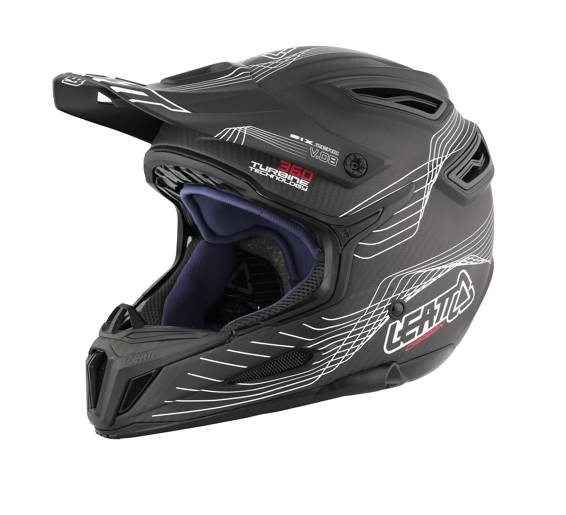 Helmet DBX 6.0 Carbon V08 Carbon White Red Side 2