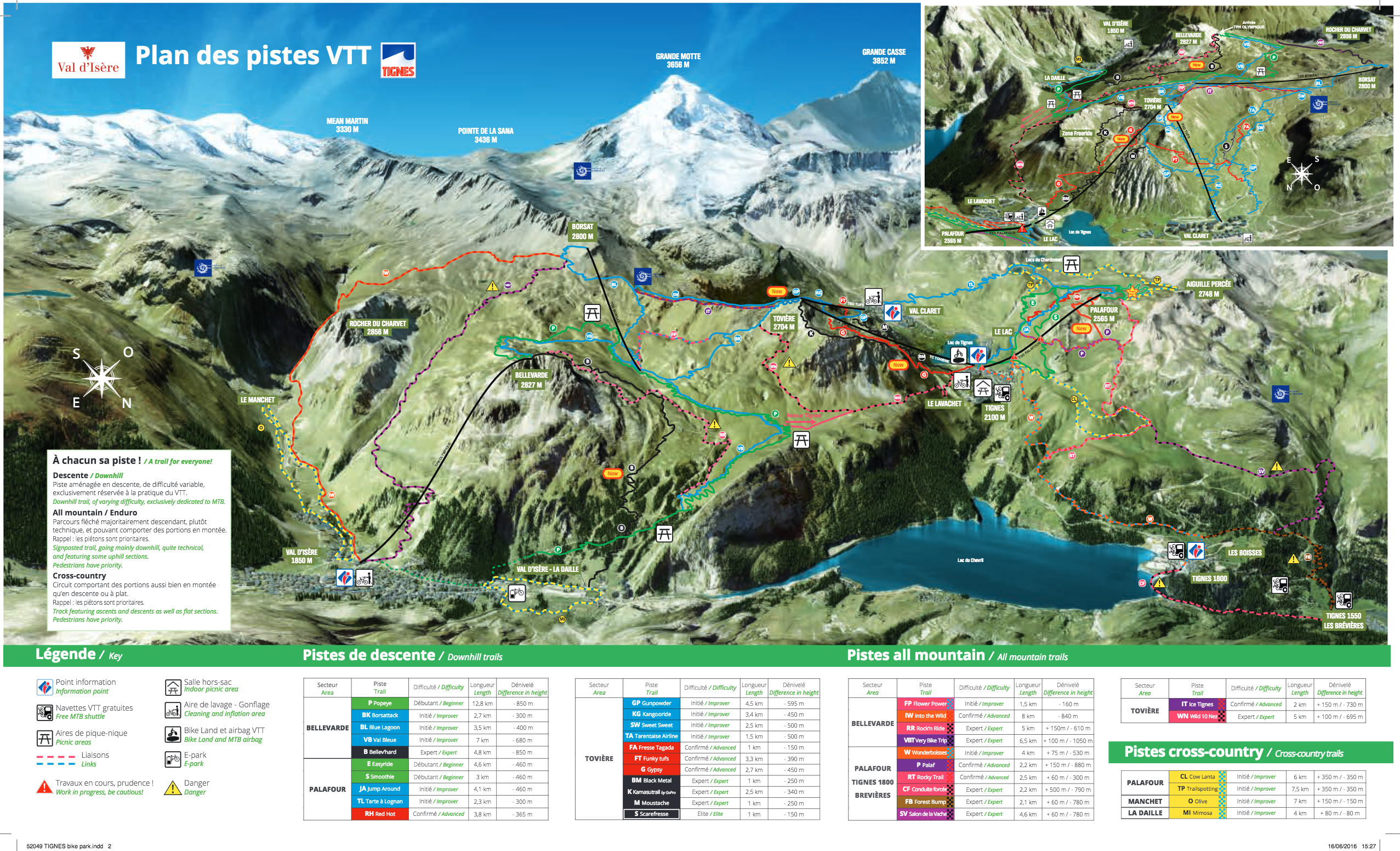 Tignes Streckenplan (Quelle: http://en.tignes.net/what-to-see-do/do-something/summer/bike-park-tignes/mtb-area)