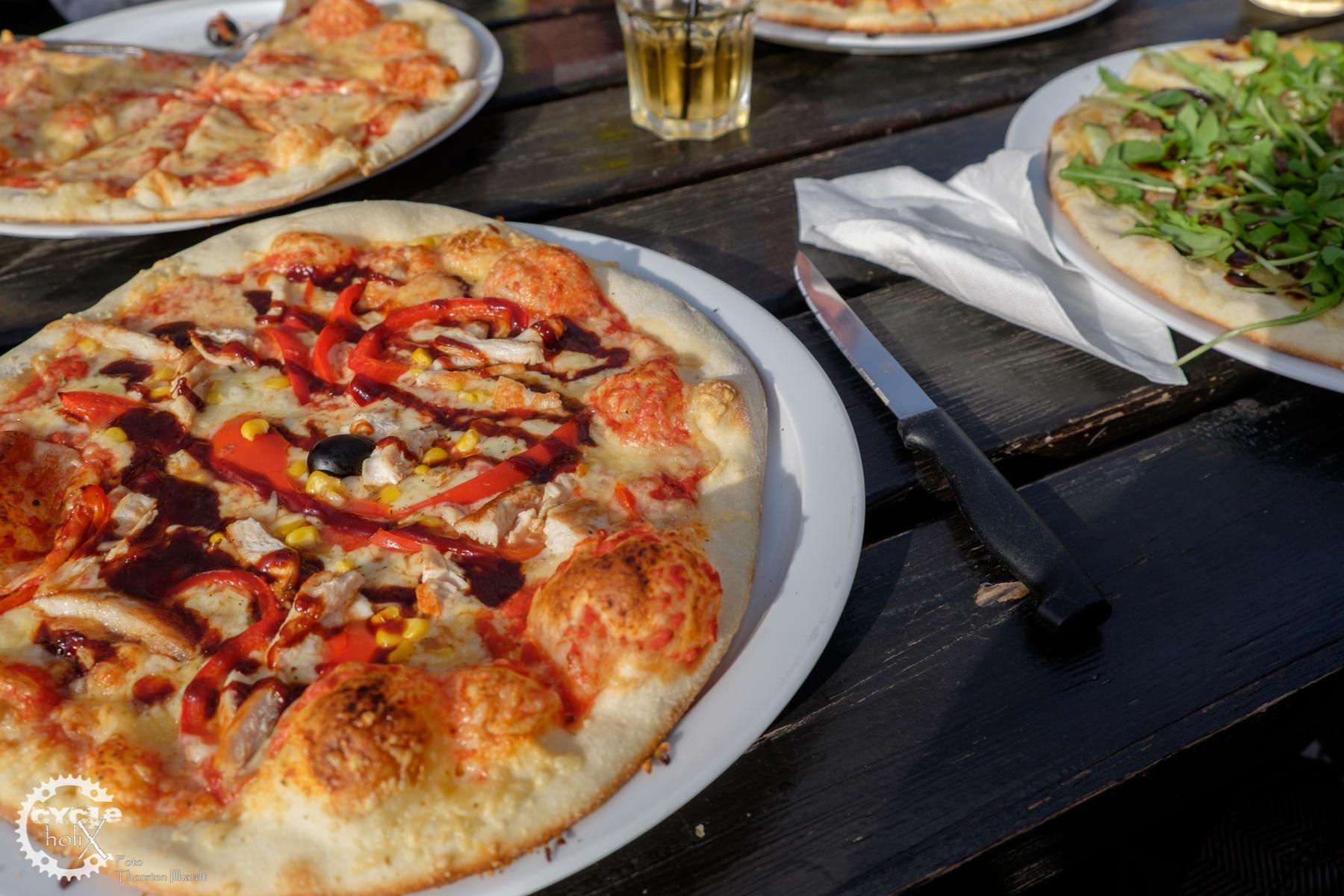 Pizza - nicht günstig, aber dafür auch nicht so gut wie in Italien!