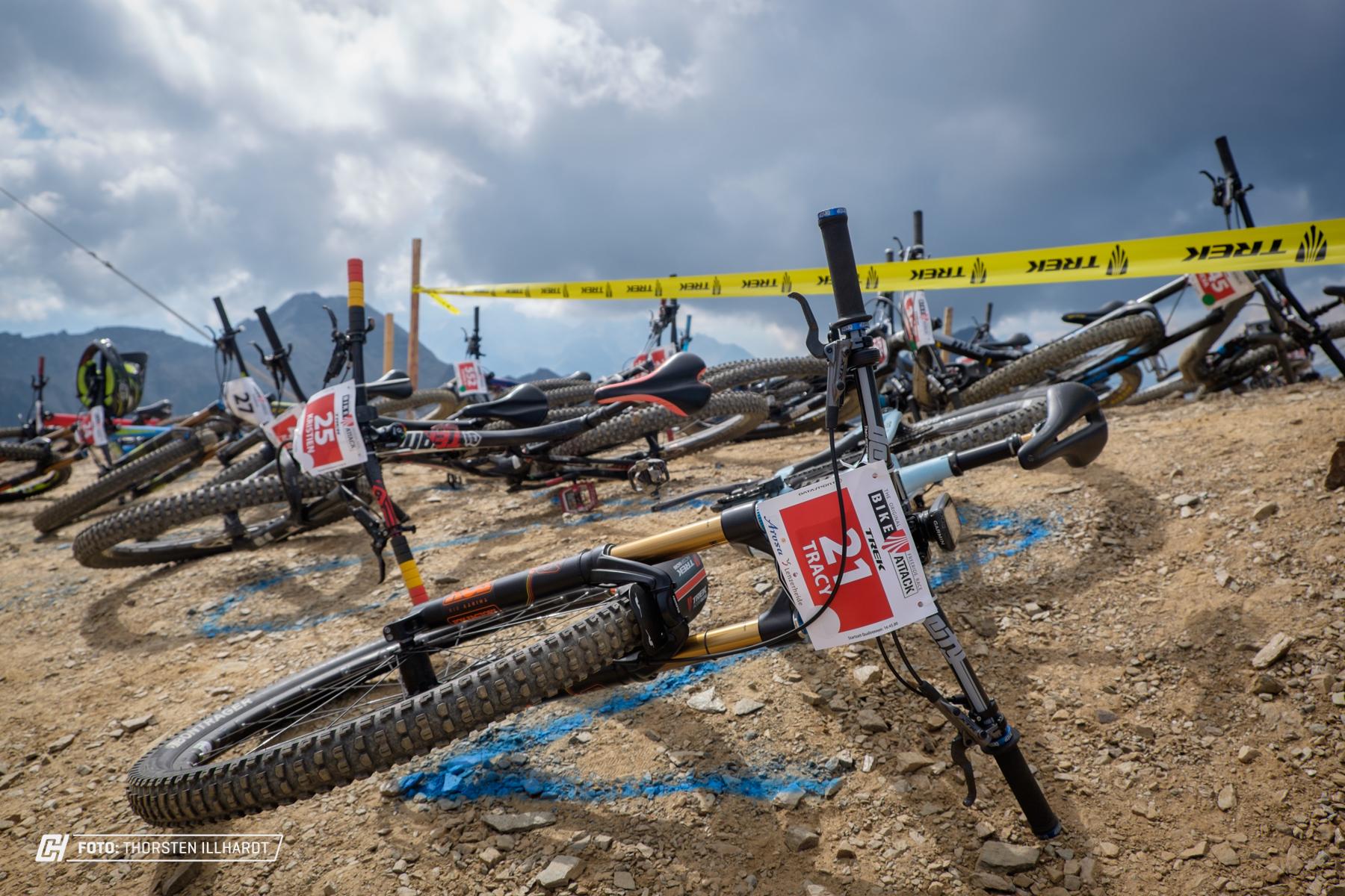 Natürlich sind auch Professionelle Fahrer auf der Bike Attack vertreten.