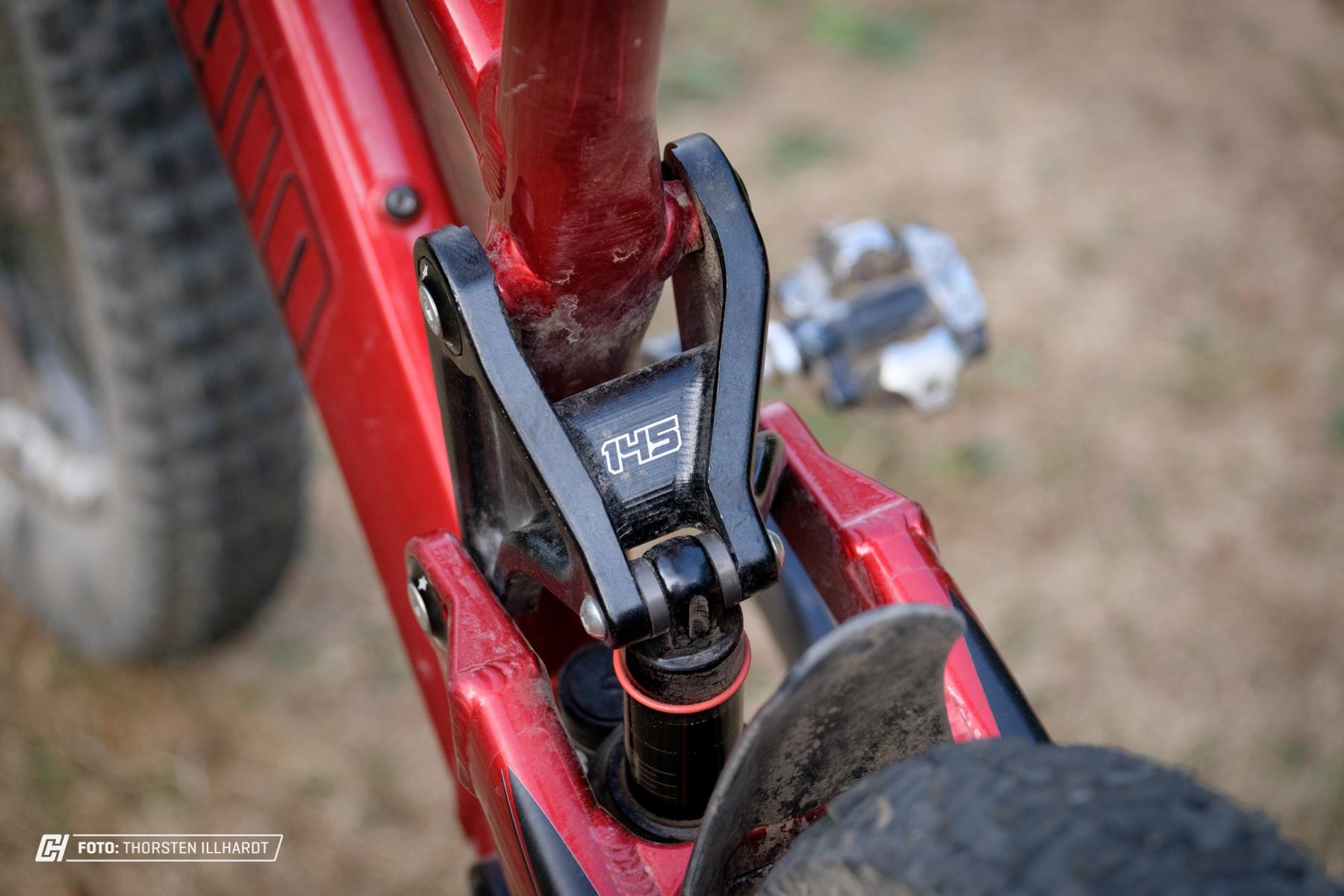 145 mm Federweg reichen dem Bike locker aus