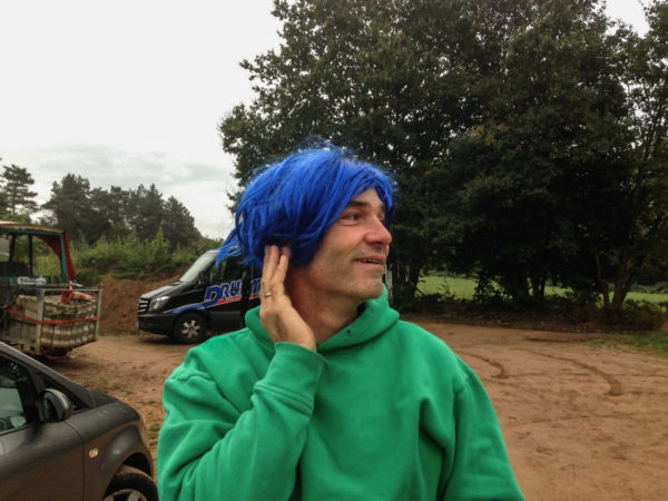 Ralf Drumm vom Bikepark  Trippstadt hatte sich extra für dieses Event eine neue Frisur zugelegt.