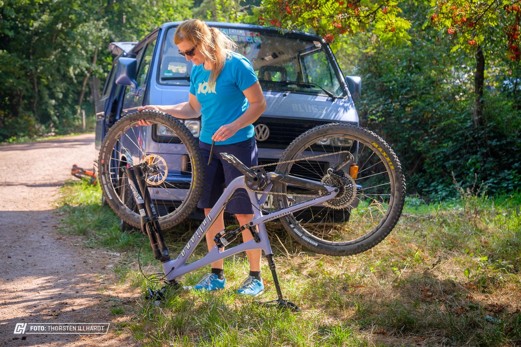 Schnellspannachse vorn ist super - aber am Hinterrad muss das nicht sein.