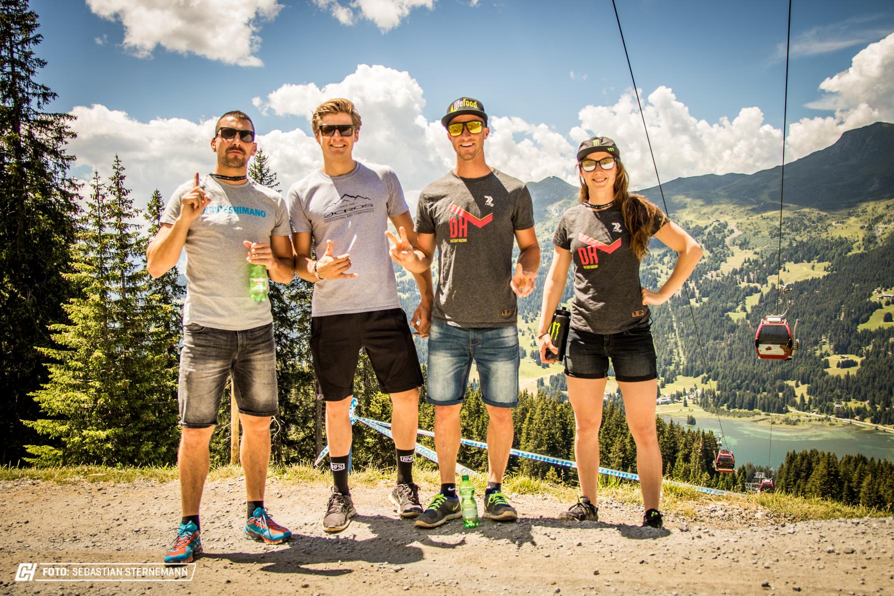 Das Radon Downhill Team sammelt natürlich ebenfalls die ersten Eindrücke.