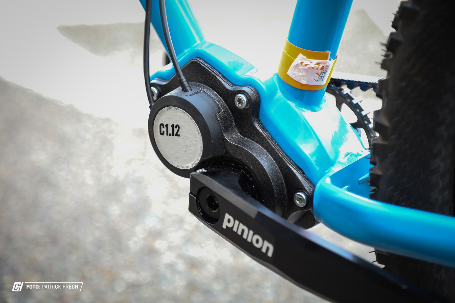 Herzstück des Stahlrahmens ist das Pinion C1.12 Getriebe.