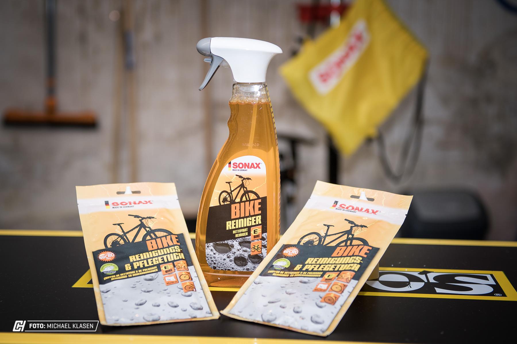 Sonax Bike-Reiniger und Pflegetücher