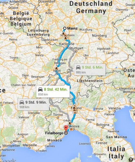 Route Finale Ligure
