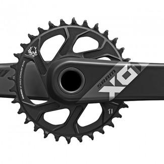 SM X01 EAGLE Crank 24mm 32t Black Front M