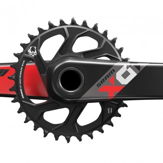 SM X01 EAGLE Crank 24mm 32t Red Front M
