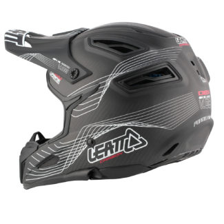 Helmet DBX 6.0 Carbon V08 Carbon White Red Side 3