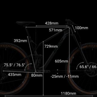 RADON SLIDE TRAIL geometrie 16inch Cycleholix