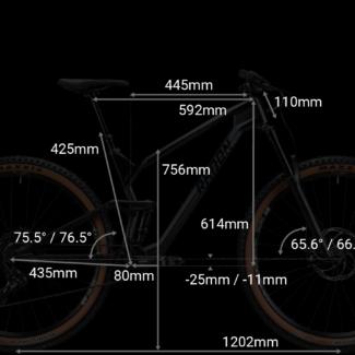 RADON SLIDE TRAIL geometrie 18inch Cycleholix