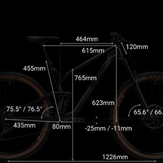 RADON SLIDE TRAIL geometrie 20inch Cycleholix