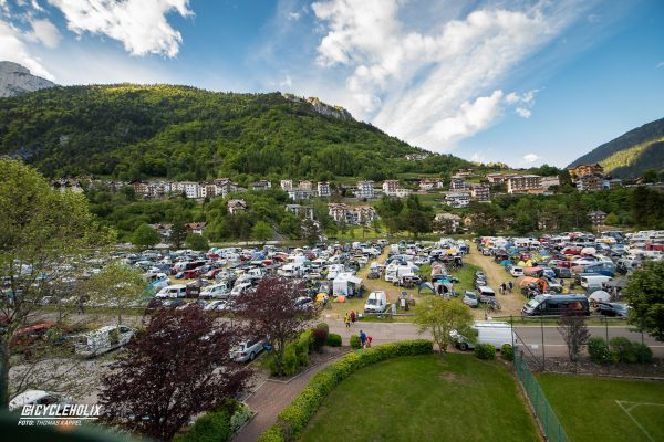Campingplatz Molveno während der Specialized Trail Days.